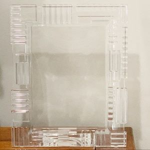 Vintage Waterford crystal clear picture frame